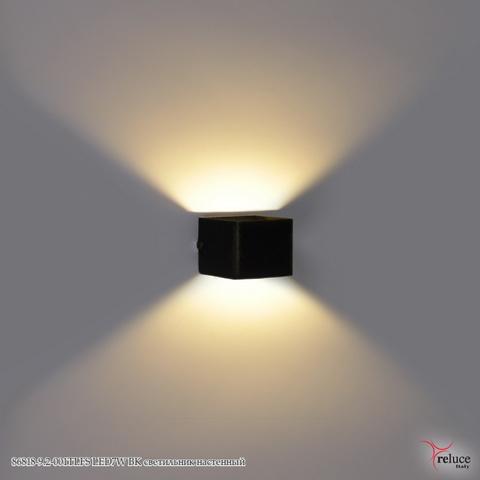 86818-9.2-001TLFS LED7W BK светильник настенный