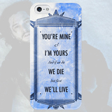 Чехол для iPhone 7+/7/6s+/6s/6+/6/5/5s/5с/4/4s YOU'RE MINE and I'M YOURS