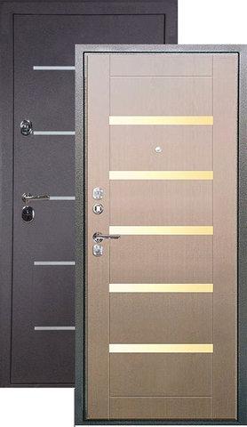 Дверь входная L-2 стальная, дуб седой, 2 замка, фабрика Арсенал