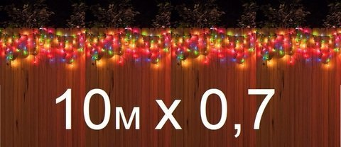 Уличная гирлянда на ПВХ проводе 10 м на 0,7 м 200 LED