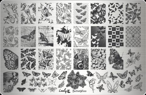 LESLY Пластина для стемпинга Butterflies