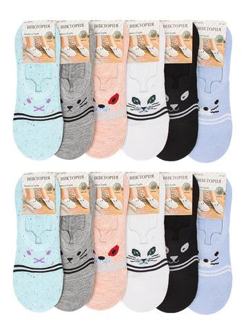 4032 носки женские цветные 37-41 (12шт)