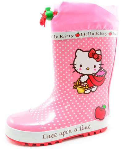 Резиновые сапоги для девочек утепленные Хелло Китти (Hello Kitty), цвет розовый. Изображение 1 из 11.