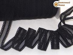 Резинка ажурная для повязок черная ширина 16 мм
