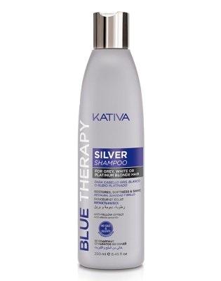 Шампунь нейтрализатор желтизны для осветленных и мелированных волос Kativa Blue Therapy 250мл