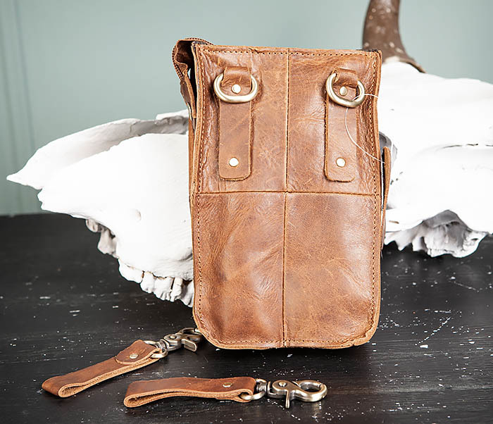 BAG492-2 Кожаная мужская сумка на ремень («Crazy Horse») фото 04