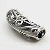 """Разделитель - трубочка """"Ажурная"""" (цвет - античное серебро) 32х16 мм"""
