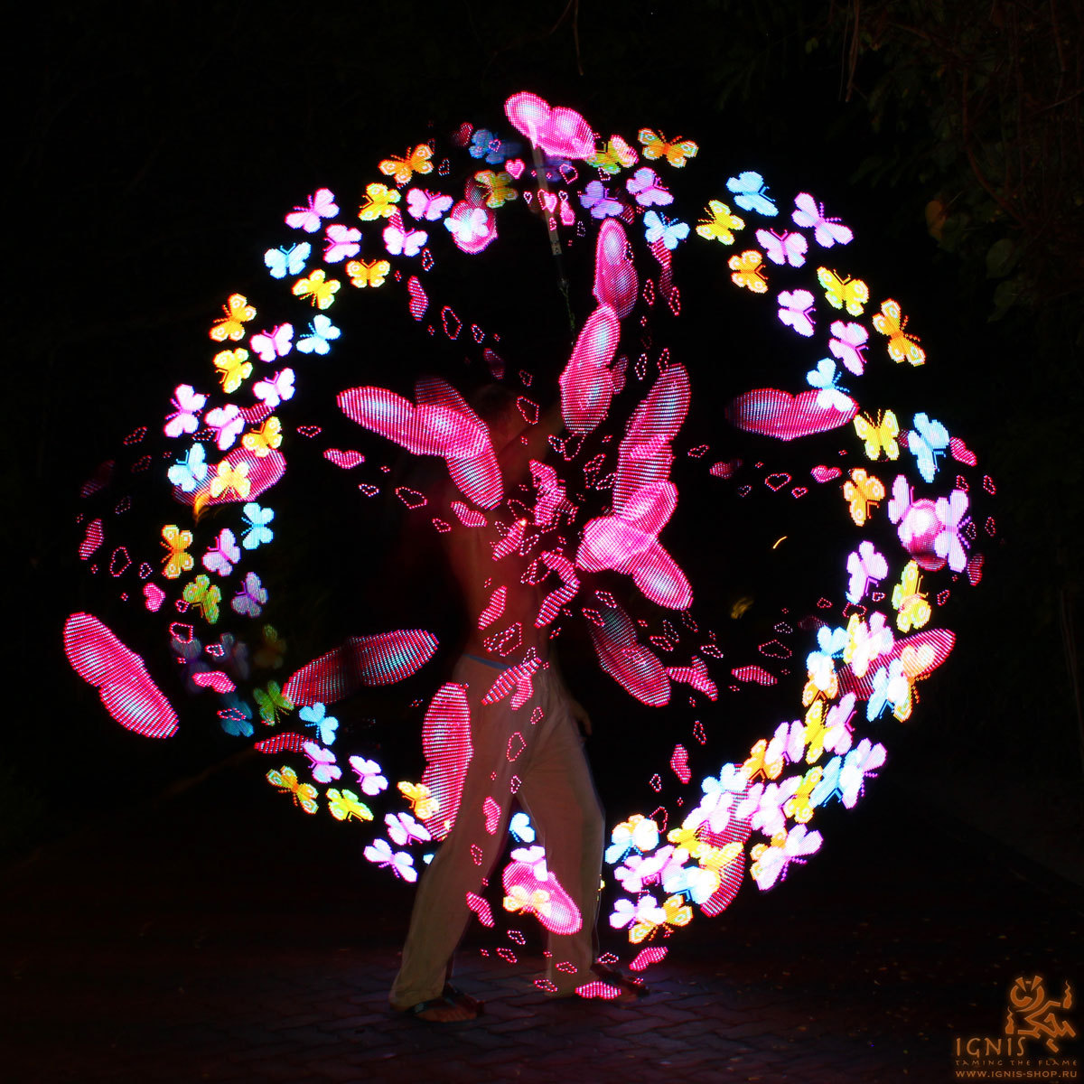LED digital poi Ignis Pixel 80 Long