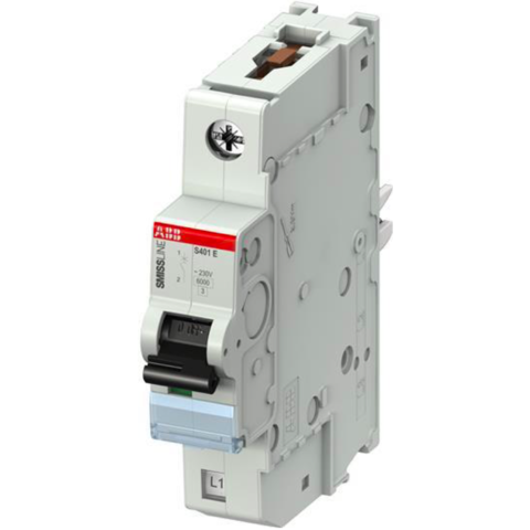Автоматический выключатель 1-полюсный 20 А, тип B, 15 кА S401E-B20. ABB. 2CCS551001R0205
