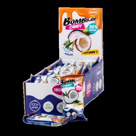 Протеиновые конфеты Bombbar Финик-кокос-кешью, 18 гр