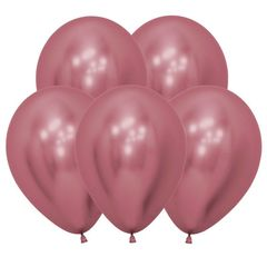 S 12 Розовый, (Зеркальные шары) / Reflex Pink / 12 шт. /