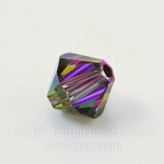 5328 Бусина - биконус Сваровски Crystal Vitrail Medium  6 мм, 5 штук