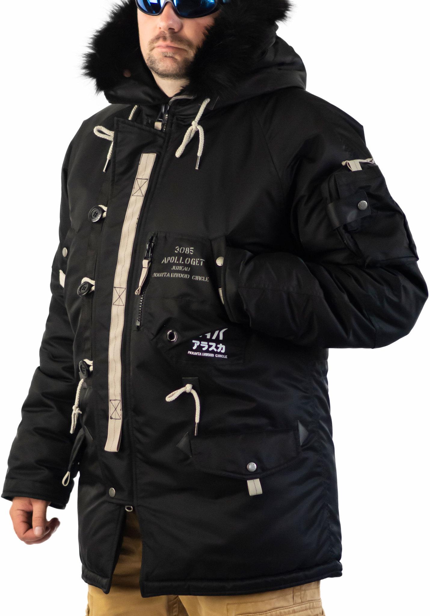 Куртка Аляска  Apolloget Sapporo 2019 (черная - black)