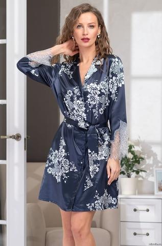 Шелковый халат - рубашка Mia Amore 3577 (70% шелк)