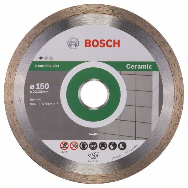 Алмазный диск Standart for Ceramic 150-22,23 Bosch 2608602203