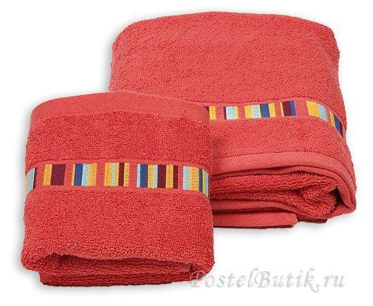 Набор полотенец 2 шт Caleffi Yupi красный