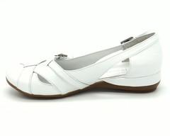 Туфли белые открытые на платформе