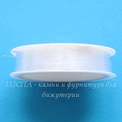 Леска для бисера и бусин, 0,6 мм, цвет - прозрачный, примерно 30 м