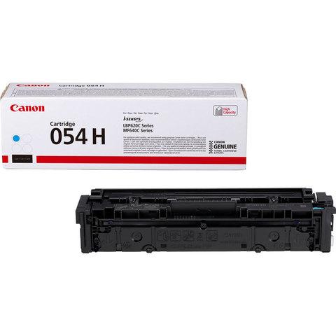 Картридж Canon 054HM голубой большой ёмкости для Canon LBP621Cw, LBP623Cdw, MF641Cw, MF643Cdw, MF455Cx. Ресурс 2.3K