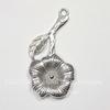 "Подвеска ""Цветок"" 38х19 мм (цвет - античное серебро)"