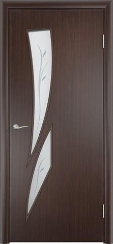Дверь Сибирь Профиль Стрелиция (С-2ф) фьюзинг, фьюзинг, цвет венге 3D, остекленная