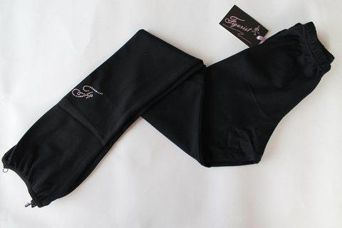 Лосины на резинке, на каблук (черные)