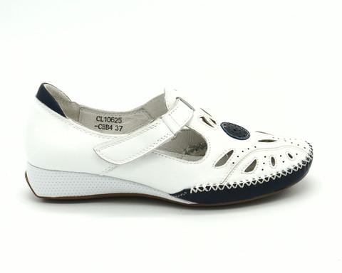 Кожаные сандалии белого цвета