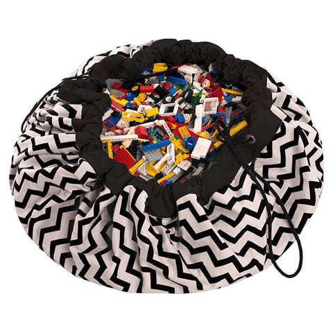 Коврик-мешок для игрушек (2 в 1) Play&Go Print ЧЕРНЫЙ ЗИГЗАГ 79963