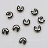 Бусина для маскировки кримпа 3,5 мм (цвет - черный никель), 10 штук