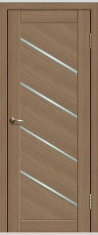 Дверь La Stella 215, стекло матовое, цвет тиковое дерево, остекленная