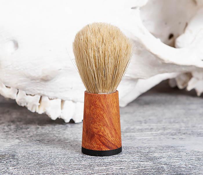 RAZ384 Помазок с рукояткой ручной работы из дерева фото 01