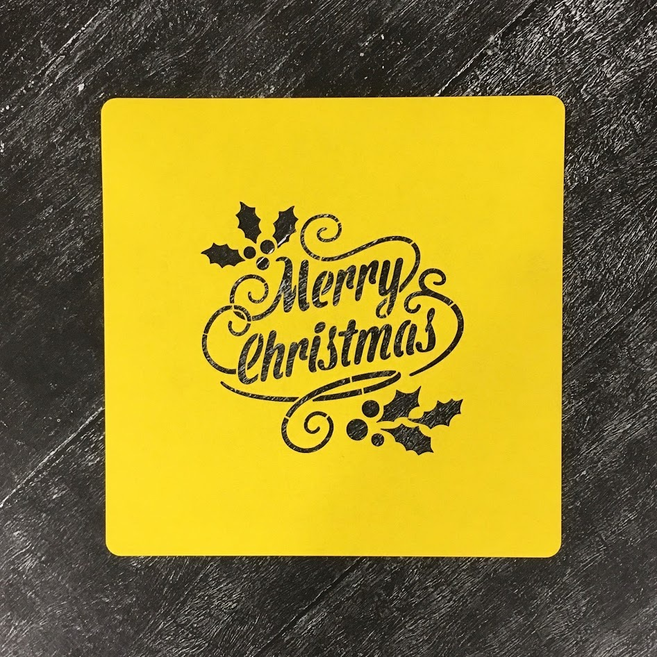 Трафарет новогодний №20 Merry Christmas