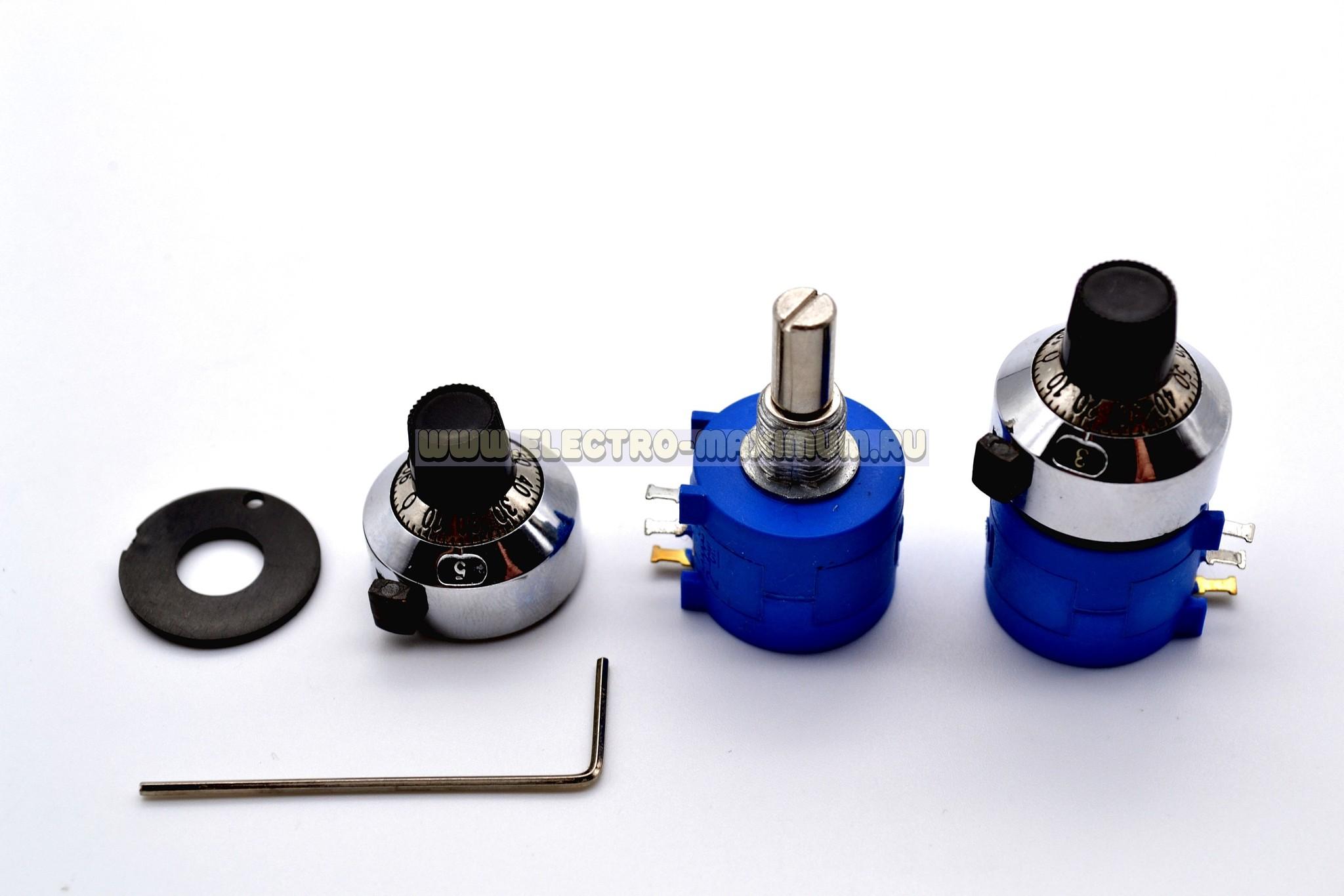 Резистор прецизионный многооборотный, 10 кОм