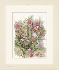 Lanarte Nesting birds in rambler rose (Снегири и розы)