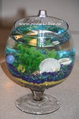 Мини аквариум бокал 2 л Луч счастья