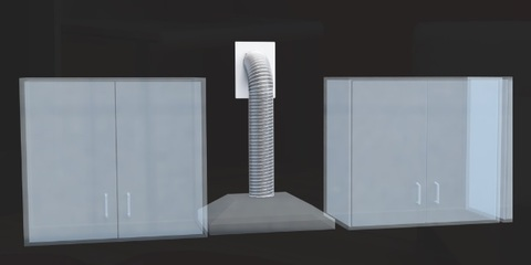 Набор вентиляционный d 120мм VK 120/4