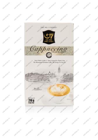 Вьетнамский растворимый кофе G7 Капучино Лесной Орех, Original, 12 пак.