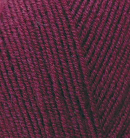 Пряжа Lanagold FINE (Alize) 495 свекольно-красный, фото