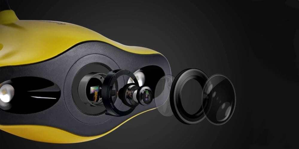 Подводный дрон Gladius Mini камера с линзой