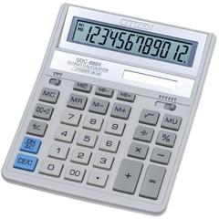 Калькулятор настольный CITIZEN бух. SDC-888XWH, 12 разр, белый