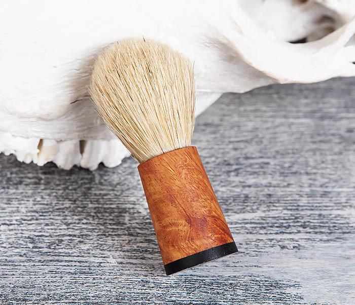 RAZ384 Помазок с рукояткой ручной работы из дерева фото 02