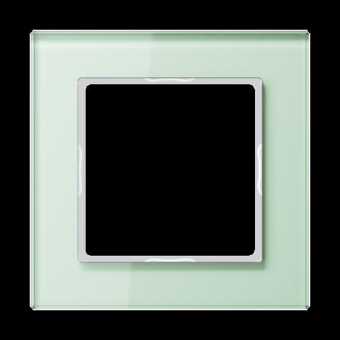 Рамка на 1 пост. Цвет Белый матовый. JUNG A CREATION. AC581GLWMT
