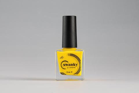 Лак для стемпинга Swanky Stamping №006, желтый, 10 мл.