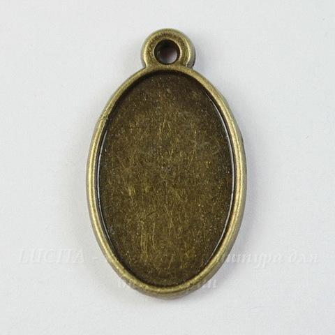 Сеттинг - основа - подвеска для камеи или кабошона 17х11 мм (цвет - античная бронза)