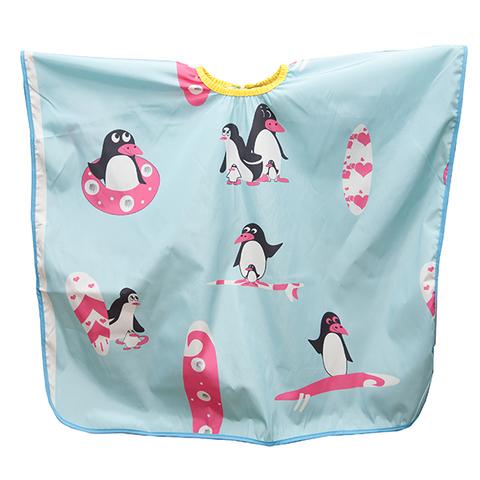 Детский пеньюар Harizma Пингвины голубого цвета