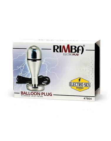 Анальная пробка, балон, биполярный - Rimba Electro buttplug, balloon shape, bi-polar  (100 mm)