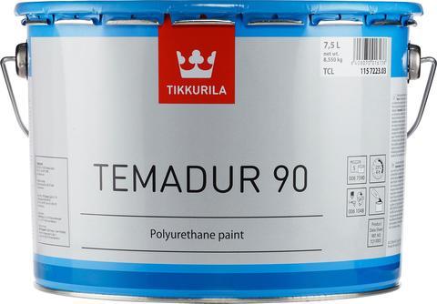 Tikkurila Temadur 90/Тиккурила Темадур 90 двухкомпонентная, высокоглянцевая полиуретановая краска для наружних работ