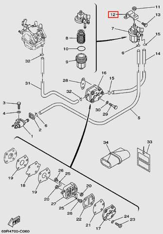 Держатель фильтра для лодочного мотора Т30 Sea-PRO (6-12)