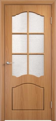 Дверь Верда Лидия, цвет миланский орех, остекленная