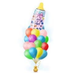 Букет шариков с бутылочкой для девочки